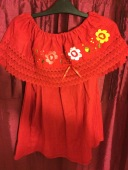 Roja floreada £20 Medium size